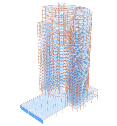 اسکلت فلزی ساختمان با ستون CFT
