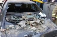 سقوط ناگهانی تابلوی سردر نمایشگاه ماشین