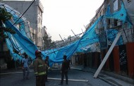 سقوط داربست در شمال شرق تهران، آتش نشانان را به محل حادثه کشاند